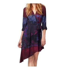 Rachel Roy Tie Dye Faux Wrap Dress
